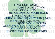 Irish Blessing, Calligraphy Art Plaques & Inspirational Gifts by Michael Noyes
