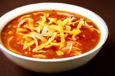 slow-cooker chicken tortilla soup...obviously stocking up on soup recipes for the fall!