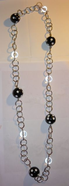 #Necklace with black and transparent #beads