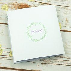 Illustrative floral Tri fold, 3 fold wedding invitations, personalised, handmade, rsvp, Flowers, spring, foliage, illustrated, pretty