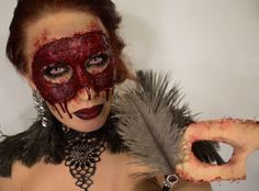 Artist Uses Special Effects Makeup To Create The Most Gruesome Faces On Herself - DesignTAXI.com