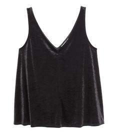 Check this out! Flared velvet tank top with a V-neck at front and back. Unlined. - Visit hm.com to see more.