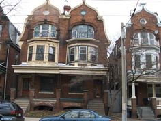 West Philadelphia - extraordinary twin houses! These were huge homes with servants quarters at the back, beautiful woodwork, back yards.