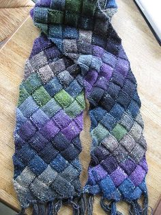 Entrelac scarf.