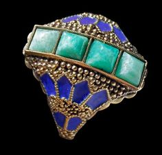 THEODOR FAHRNER  Art Deco Ring   German, c.1927. Follow Renaissance Fine Jewelry or see us at www.vermontjewel.com. We sell the largest vintage and antique jewelry collection in Southern Vermont! Plus, we do expert custom design and restoration.
