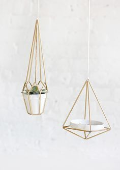 Diy brass himmeli hanger #DIY #crafts