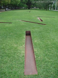 It would be tricky to mow this, but it sure is lovely.    by Michael Heizer