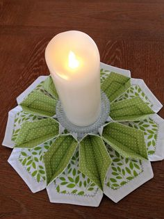 The Blossom - Table Topper, Candle Mat, Handmade, FREE Shipping