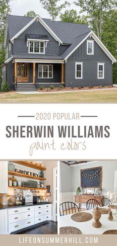Exterior Gray Paint, Exterior Paint Colors For House, Paint Colors For Home, Home Colors, Siding Colors For Houses, Mindful Gray, Outdoor Paint Colors, Blue Gray Paint Colors, Trending Paint Colors