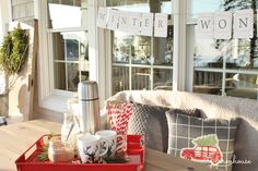 City Farmhouse Holiday Porch-Hot Chocolate For Boys