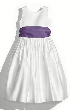 Us Angels White Tank Dress with Satin Sash (Toddler, Little Girls & Big Girls) | Nordstrom