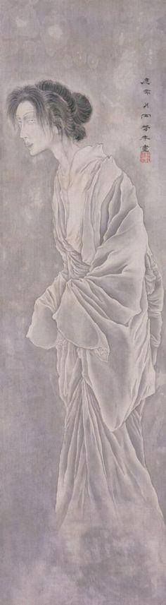 Ghost of Okiku お菊の図 by Yoshitoshi Taiso, 1839-1892, Japan. S)