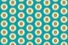 Petals and Lace Aqua fabric by drapestudio on Spoonflower - custom fabric