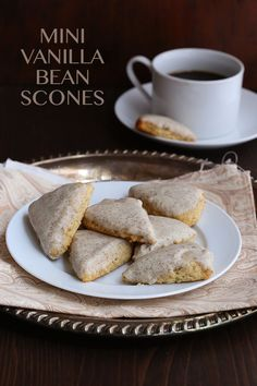 Best low carb mini vanilla bean scones, a Starbuck's knock-off.