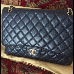 Chanel caviar jumbo classic handbag. In great condition, gently loved. No box, no dust bag. Postmark will authorize authenticity on all purchases of $500 and over. Price reduced from $4500 for limited time only. CHANEL Bags Satchels