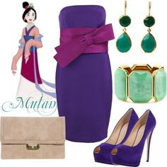 Oh yes, the Mulan look Disney Princess Outfits, Disney Outfits, Disneyland Outfits, Disney Clothes, Prom Outfits, Cute Outfits, Fashion Outfits, Beautiful Outfits, Disney Inspired Fashion