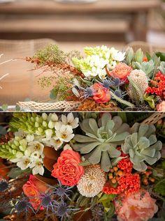 gorgeous colors, Joshua Tree wedding via 100 Layer Cake Floral Wedding, Fall Wedding, Wedding Bouquets, Wedding Flowers, Joshua Tree Wedding, Cactus Y Suculentas, Flower Pots, Flower Ideas, Real Weddings