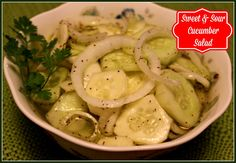 Sweet Tea and Cornbread: Sweet and Sour Cucumber Salad!
