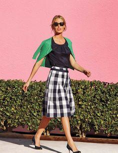 Pin for Later: La jupe mi-longue, flatteuse pour tout le monde ! Jupe Boden à carreaux Boden Jupe Poppy (79 €)