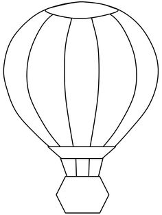 template for construction paper hot air balloons