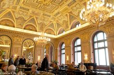 Alexandra's bookshop cafe, Budapest the best coffee in cake.