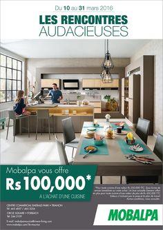 Rs 100,000 offert à l'achat d'une cuisine chez Mobalpa. Tel: 465 4857 / 244 3109