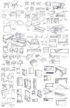 Personal sketch work and ideation exercises