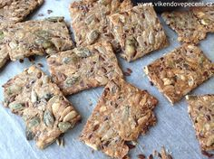 VÍKENDOVÉ PEČENÍ: Semínkové krekry Healthy Cooking, Cooking Recipes, My Favorite Food, Favorite Recipes, Vegetarian Recipes, Healthy Recipes, Vegan Crackers, Bread And Pastries, Junk Food