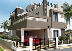 Explore the best new residential interior designs and Building floor plans as per Vasthu Sastra guidelines. House Outer Design, House Outside Design, House Front Design, Small House Design, 2 Storey House Design, Bungalow House Design, Building Elevation, House Elevation, House Layout Plans