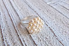 Ring with freshwater pearls by Charmecharming 14,00 €