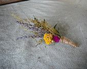 Dried flower and herbs boutonneire
