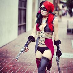 Harley Quinn #Cosplay | Jessica Nigri  We were thinking of this cosplay, but I don't think I could pull it off this well