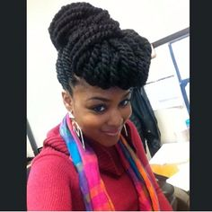 The next time I get braids I'm doing Marley Twists. Marley Twists Updo, Marley Twist Styles, Marley Twist Hairstyles, Twist Braids, Braided Hairstyles, Cool Hairstyles, Havana Twists, Protective Hairstyles, Hairstyle Ideas