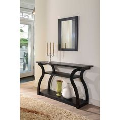 Furniture of America 'Sara' Black Finish Console Table - Overstock™ Shopping - Great Deals on Furniture of America Coffee, Sofa & End Tables