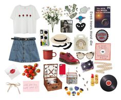 """""""You were my world, I was just your manic pixie dream girl."""" by theavantgardetweener ❤ liked on Polyvore featuring Chicnova Fashion, Maison Michel, Charlotte Olympia, Comme des Garçons, STELLA McCARTNEY, CO and Joseph Joseph"""