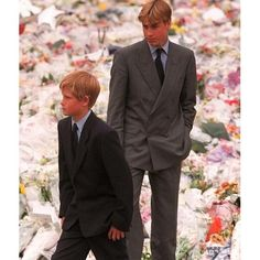 Prince William and Harry  • • •