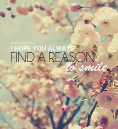 Find a reason to smile everyday .