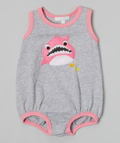 Look what I found on #zulily! Silver & Fuchsia Shark Bubble Bodysuit - Infant by Victoria Kids #zulilyfinds