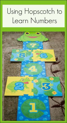 Using Hopscotch to Learn Numbers. With a few variations on play it can be a great tool for toddlers and #preschoolers.