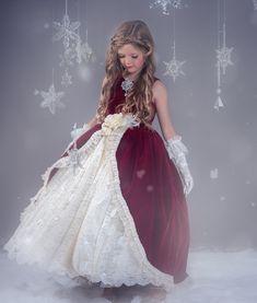 """""""Crimson Belle""""... A Rich Velvet Ball Gown Style Design – Love Baby J"""