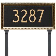 Montague Metal Products Verona One Line Address Plaque Finish: Antique Copper/Copper