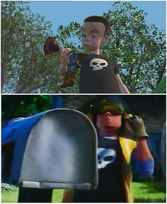Sid grew up to be a garbage man in toy story 3