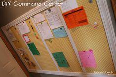 DIY Magnet Command Center. Organize your life