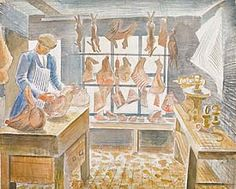 Butchers Shop Sible Hedingham Eric Ravilious 10 x 12 inch ready mounted SUPERB Butcher Shop, Art For Art Sake, Room Paint, Painting & Drawing, Watercolor Art, Art Gallery, Illustration Art, Drawings, Prints