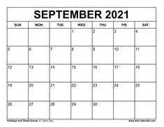 Wiki Calendar September 2021 September Calendar, 2021 Calendar, Bread Recipes, Banana Bread, Free Printables, Projects To Try, Templates, Day