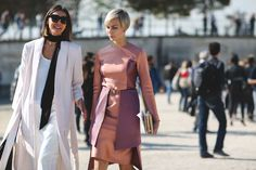 """The Best """"What IS She Wearing?"""" Looks From Paris #refinery29  http://www.refinery29.com/2015/10/95202/paris-fashion-week-spring-2016-street-style-pictures#slide-12  The skinny scarf is a new staple...."""