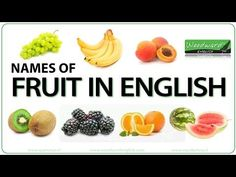 The names of fruit in English accompanied by a photo of each one. We also give the pronunciation of each fruit both in singular and plural form (be careful of irregular spelling). This English lesson about fruit is appr English Vocabulary List, Food Vocabulary, English Vocabulary Words, Advanced English Grammar, English Grammar Quiz, Plural Y Singular, Woodward English, Dictionary For Kids, Fruit Names