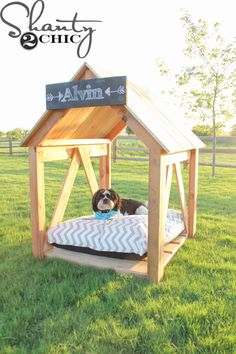 What pup wouldn't enjoy this Breezy Dog House complete with a fluffy bed, shade and of course, a sign with his name? You'll find the easy-to-follow instructions at Shanty2Chic.