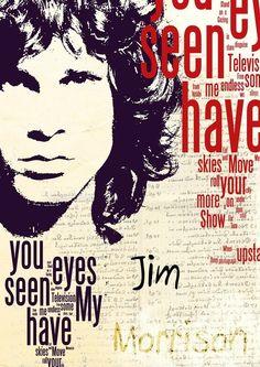 Jim Morrison @Kostas Tsipos Gorgeous music canvas poster art