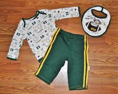 e33e33ad04 NWOT BOYS OUTFIT 9 MONTHS FOOTBALL MONKEY 3PC SET FALL WINTER 6 9 NWOT   VitaminsBaby  CasualFormal
